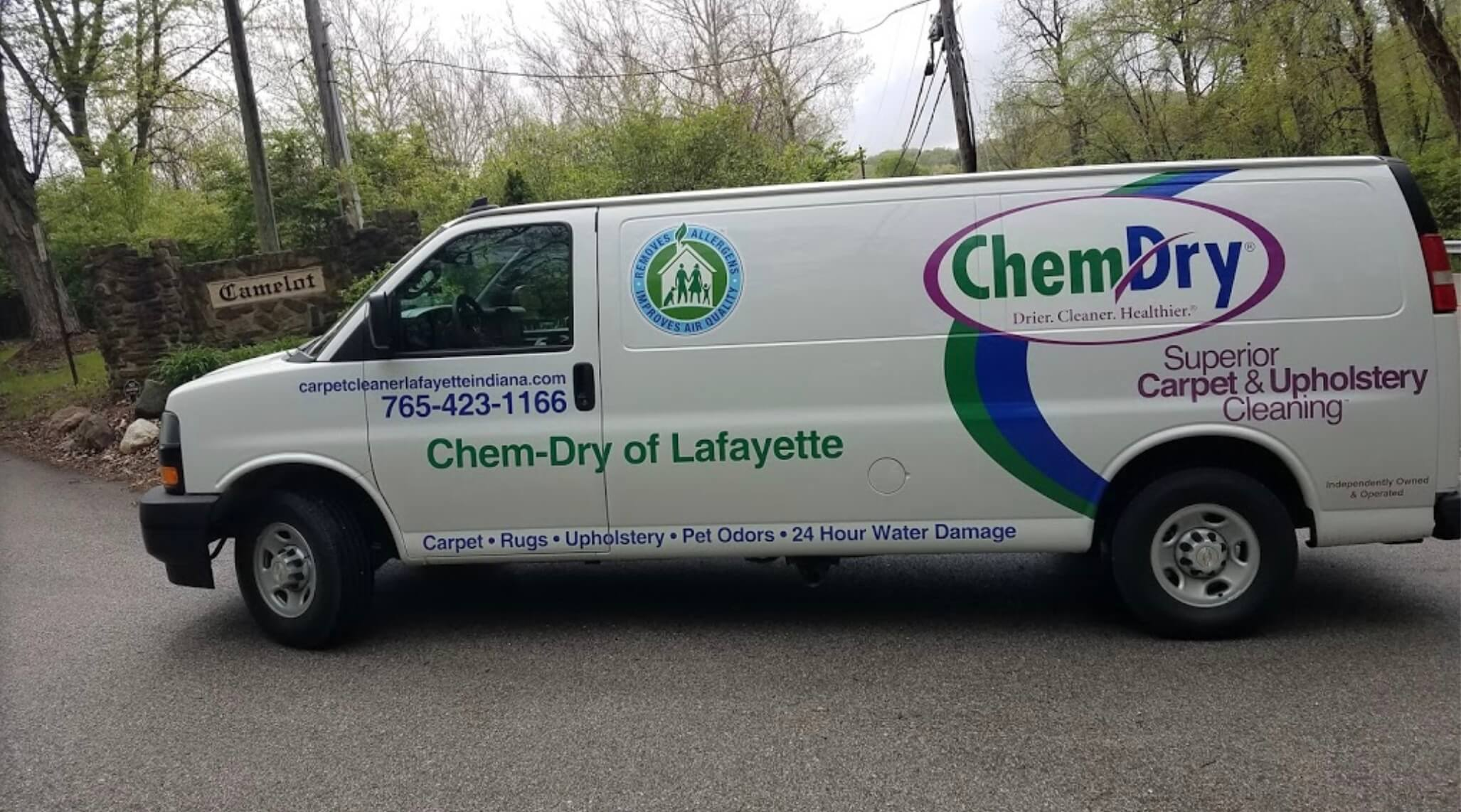 chem dry of lafayette carpet cleaning van