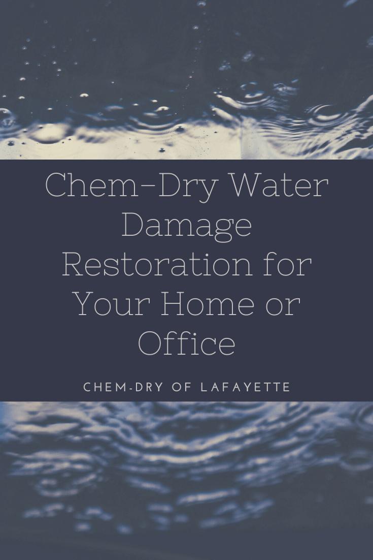 water damage restoration in lafayette, in