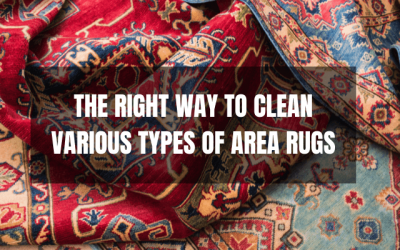The Right Way To Clean Various Types Of Area Rugs